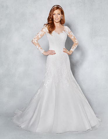 Lucy fit _ flare wedding dress front Viva Bride th