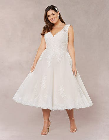 Lula short wedding dress front Bellami th