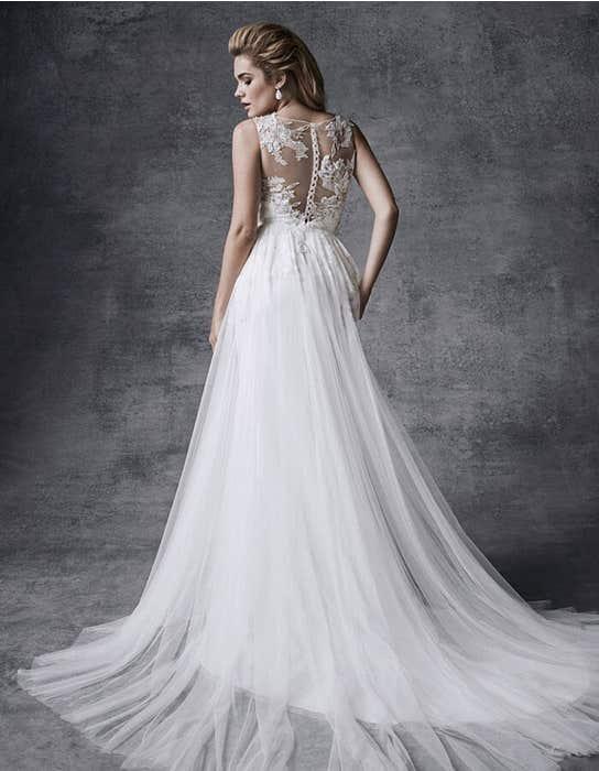 Lyra aline wedding dress back Signature