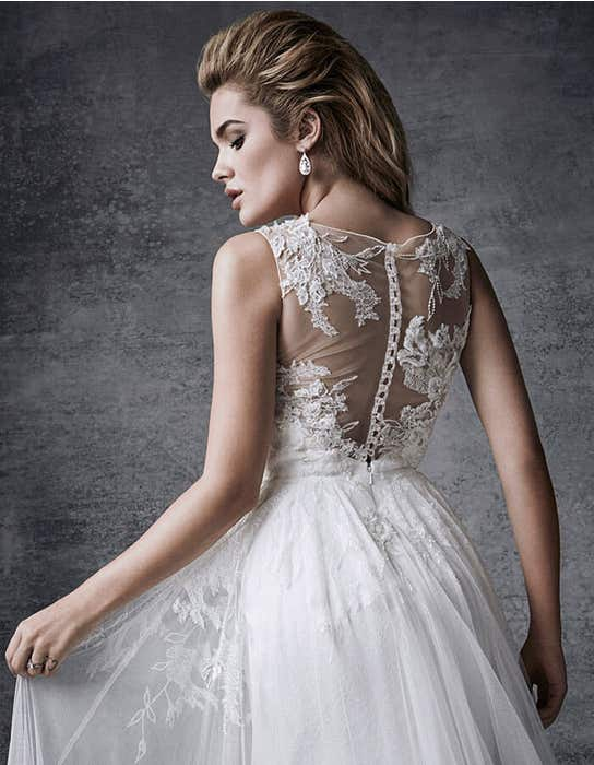Lyra aline wedding dress crop back Signature