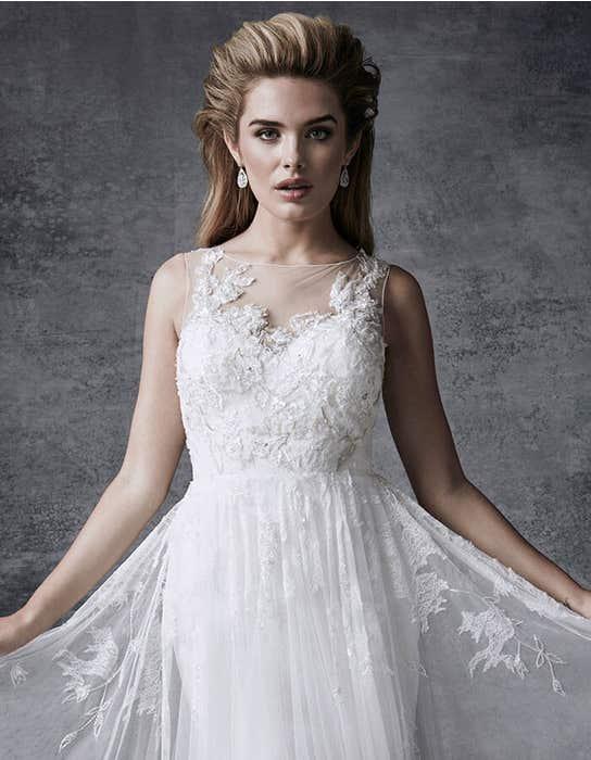 Lyra aline wedding dress crop front Signature