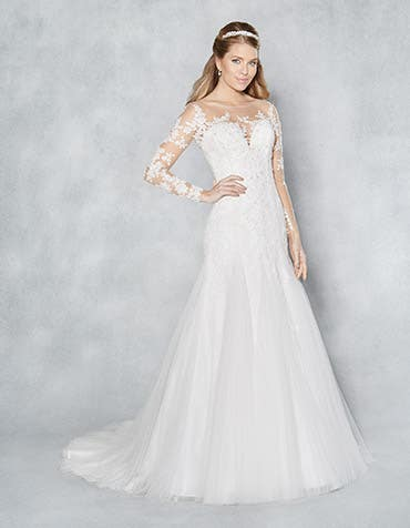 Mackenzie fit and flare wedding dress front Viva Bride th