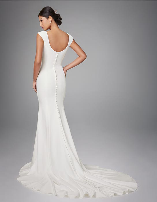 Magda sheath wedding dress back Anna Sorrano