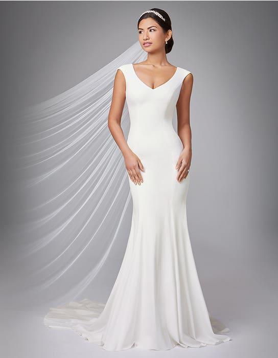 Magda sheath wedding dress front Anna Sorrano