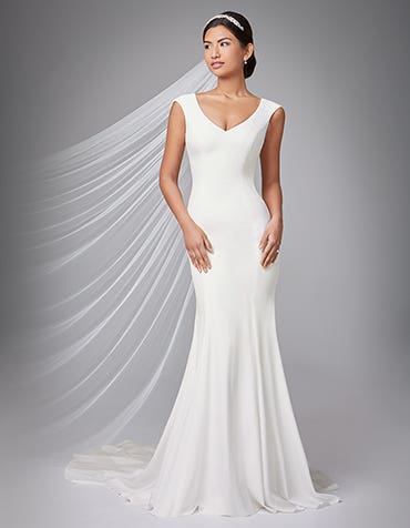 Magda sheath wedding dress front Anna Sorrano thumbnail