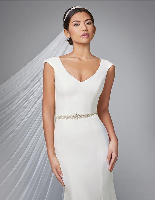 Magda sheath wedding dress front crop 2 Anna Sorrano