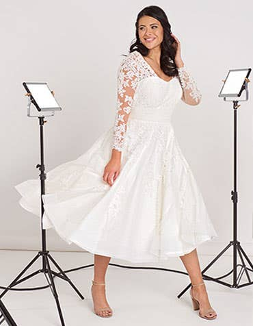 Maria short wedding dress front Edit Bellami th