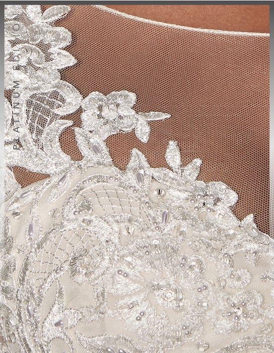 Mariah Ballgown wedding dress detail Viva Bride