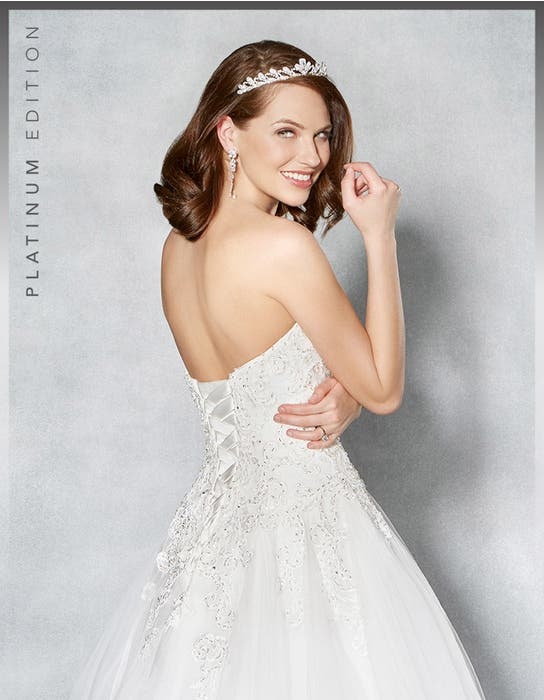 Marley aline wedding dress crop back Viva Bride