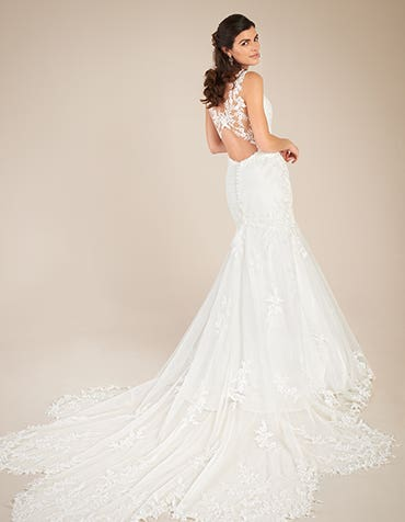 Marlow Fishtail wedding dress back Viva Bride th