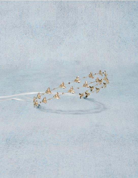 Matilda gold bridal beadband detail Amixi