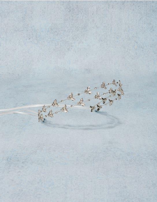 Matilda silver bridal beadband detail Amixi