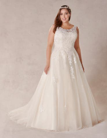 Melrose aline wedding dress front Bellami th
