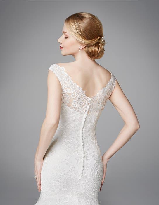 Meryl fishtail wedding dress crop back Anna Sorrano