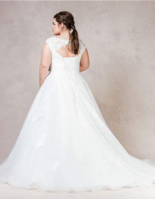 Mila ballgown wedding dress back Bellami