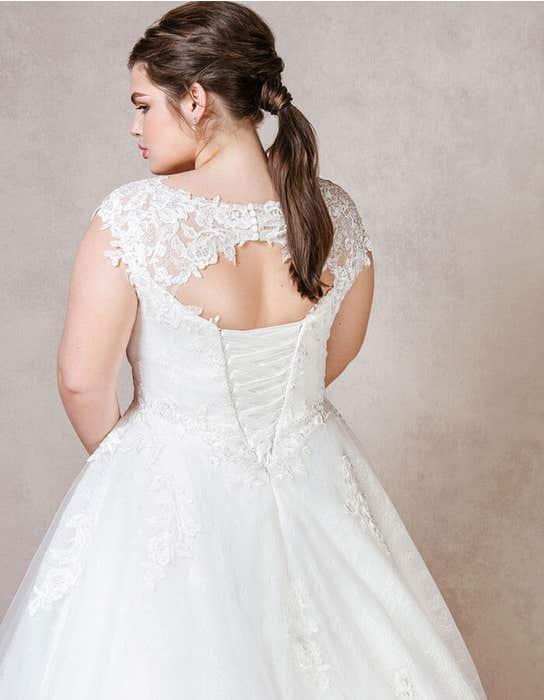Mila ballgown wedding dress back crop Bellami