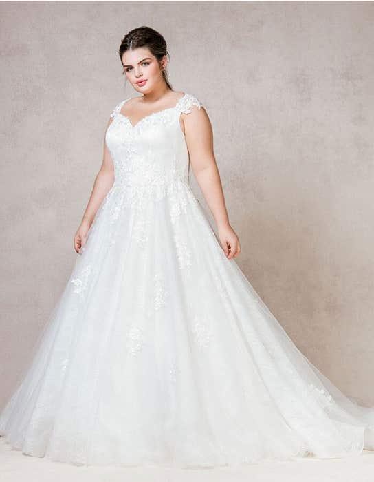 Mila ballgown wedding dress front Bellami