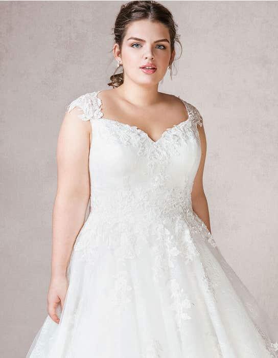 Mila ballgown wedding dress front crop Bellami