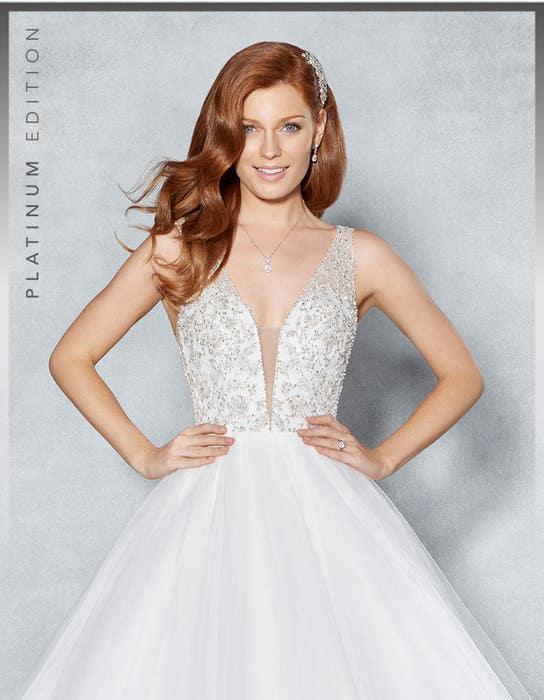 Milan ballgown wedding dress crop front Viva Bride