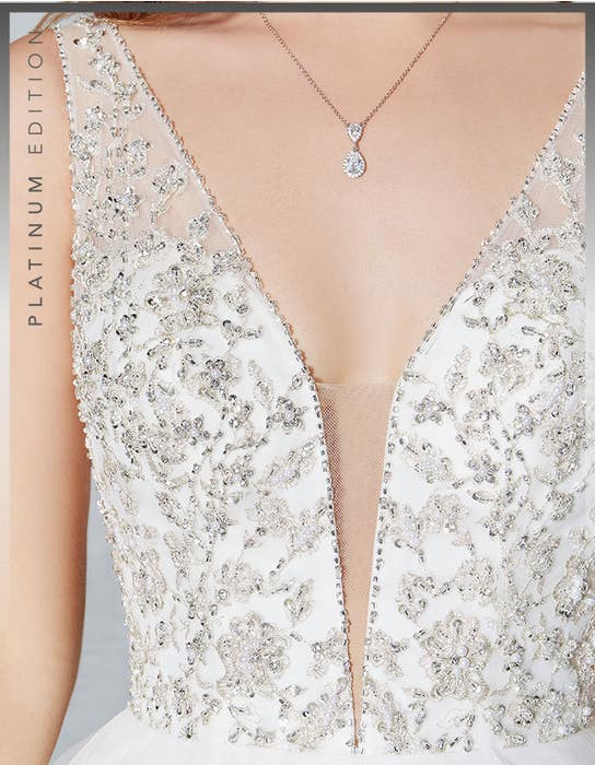 Milan ballgown wedding dress detail Viva Bride