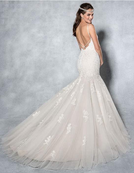 Mischa fishtail wedding dress back Viva Bride