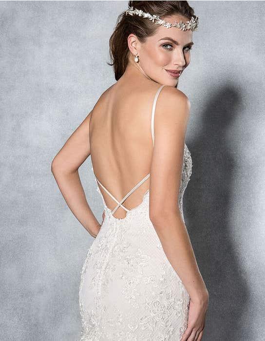 Mischa fishtail wedding dress back crop Viva Bride