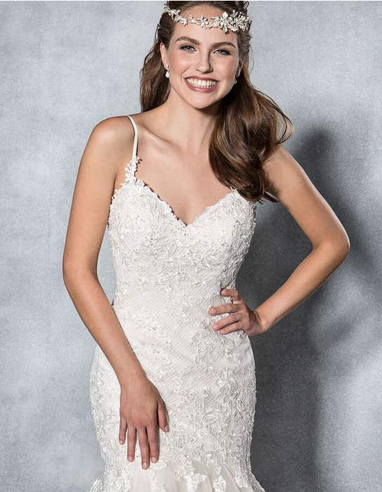 Mischa fishtail wedding dress front crop Viva Bride