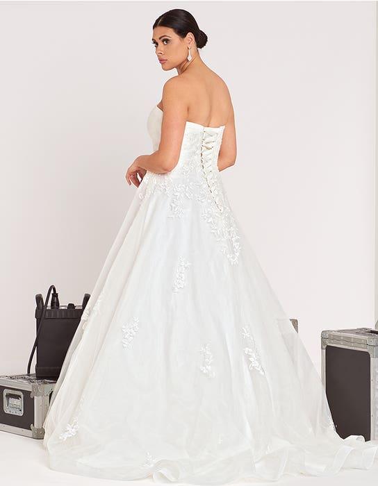 Nala ball gown wedding dress back edit Bellami