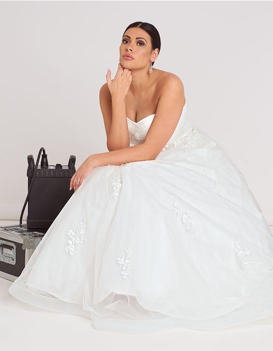 Nala ball gown wedding dress front edit Bellami