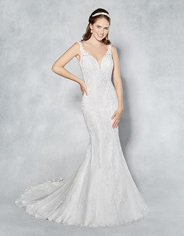 Natalia fishtail wedding dress front Viva Bride th
