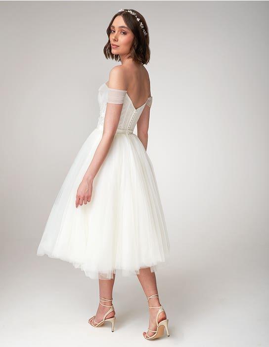 Niamh short wedding dress back Viva Bride