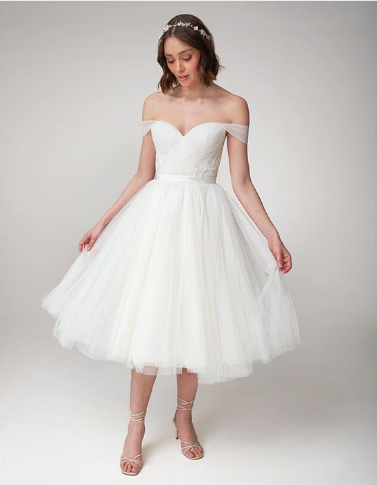 Niamh short wedding dress front Viva Bride
