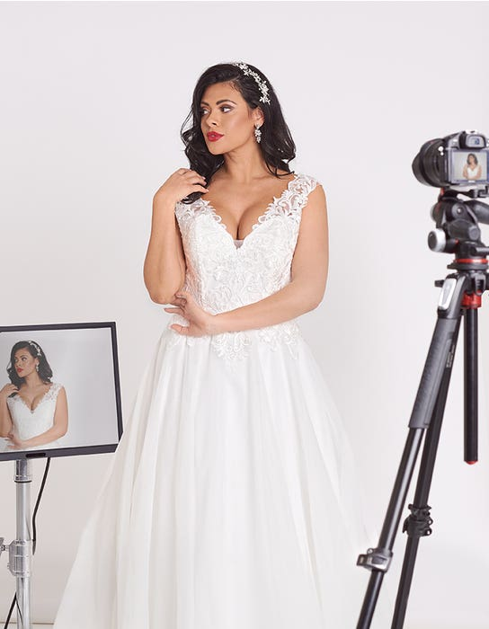 Nigella A_line wedding dress front crop Edit Bellami