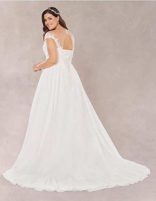 Novalie aline wedding dress back Bellami