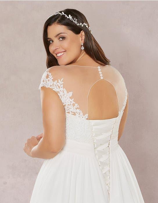 Novalie aline wedding dress crop back Bellami
