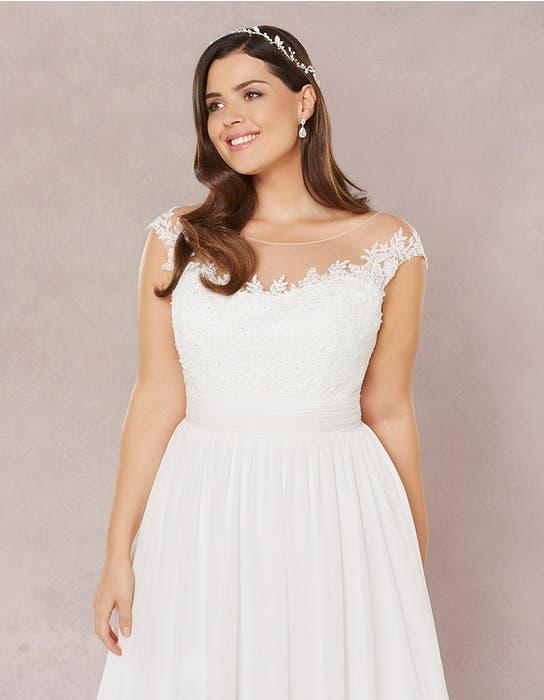 Novalie aline wedding dress crop front Bellami