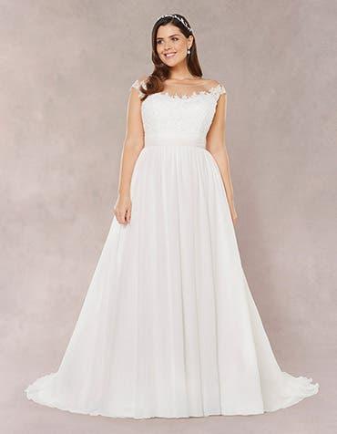 Novalie aline wedding dress front Bellami th