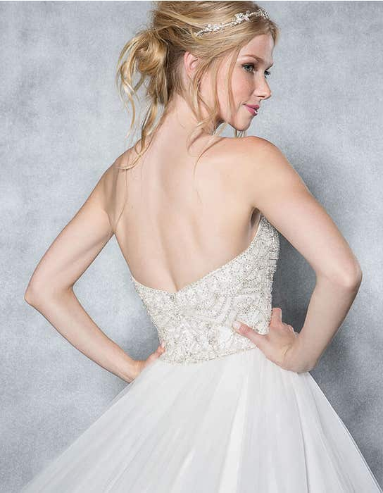 Odette ballgown wedding dress back crop Viva Bride