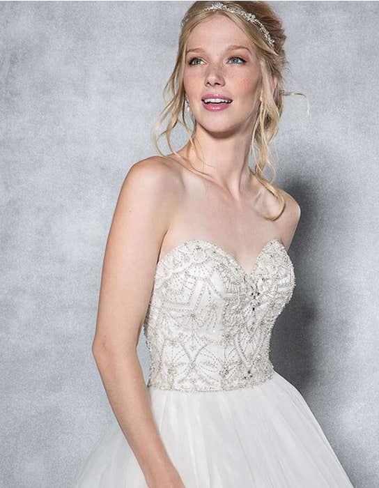Odette ballgown wedding dress front crop Viva Bride