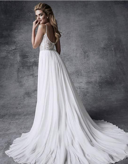 Olympias aline wedding dress back Signature