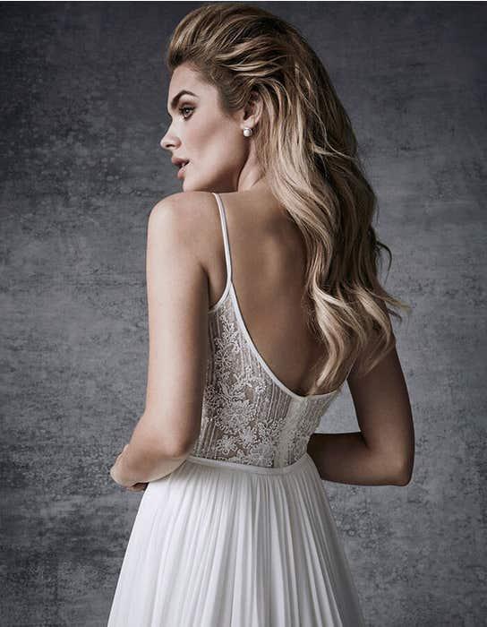 Olympias aline wedding dress crop back Signature