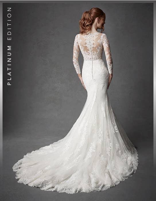 Oriana fishtail wedding dress back Signature