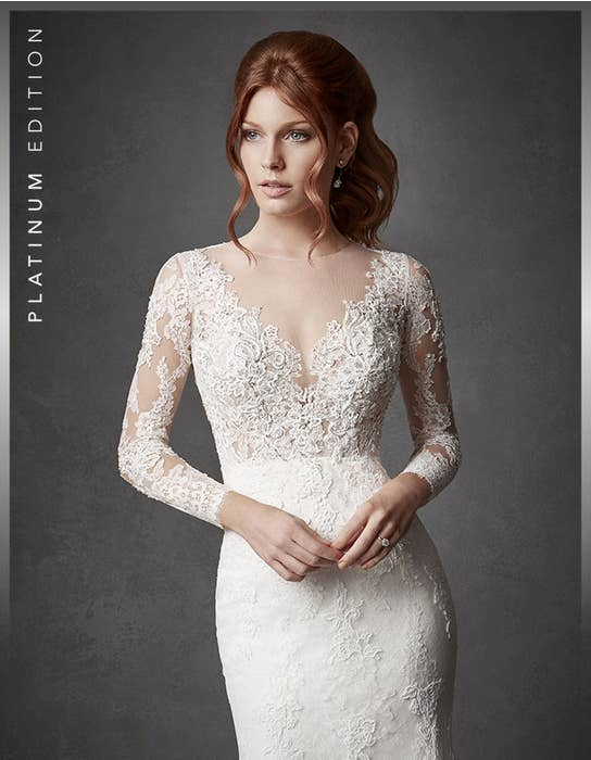 Oriana fishtail wedding dress crop front Signature