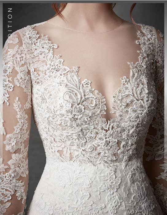 Oriana fishtail wedding dress detail Signature