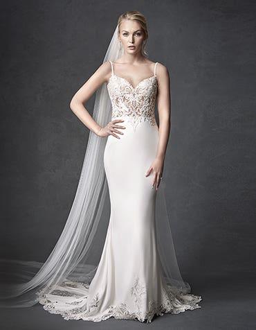 Orlando sheath wedding dress front The Signature Collection thumbnail