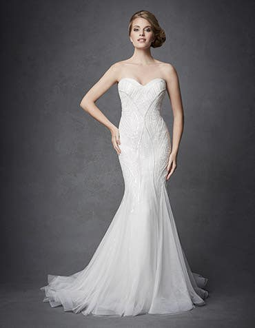 Osiris sheath wedding dress front Signature th