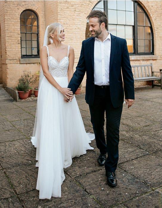 Oslo aline wedding dress front edit Heidi Hudson