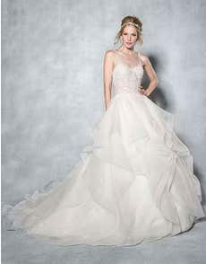 PAIGE - a ruffle organza gown with sweetheart neckline