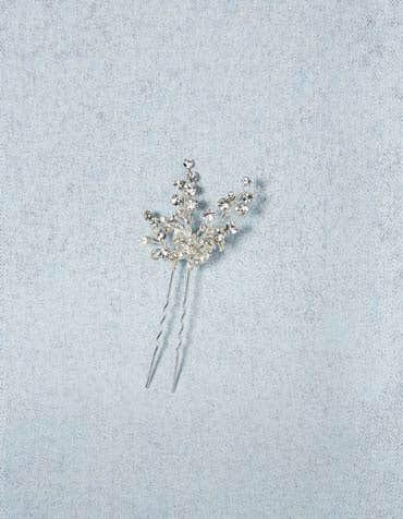 Peacock bridal hair pin detail Amixi th