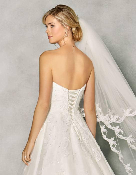 Penny aline wedding dress crop back Anna Sorrano